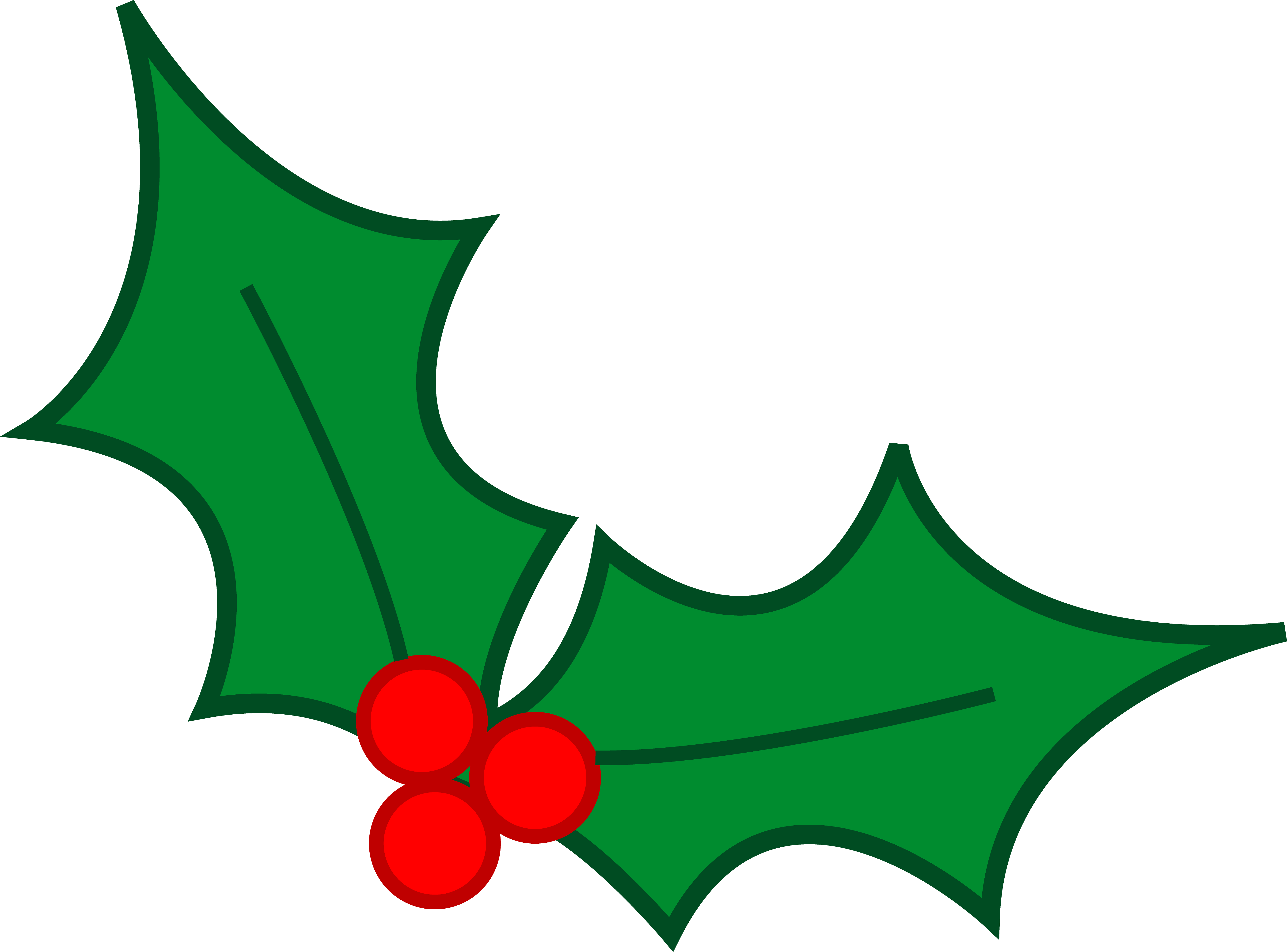 Christmas plants clipart.