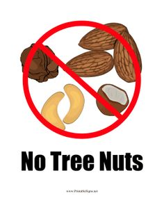 Tree Nut Allergy Clipart.
