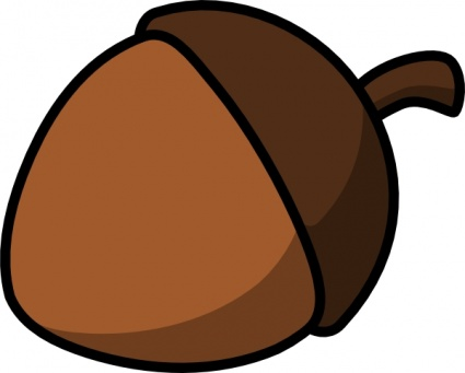 Squirrel with nuts clipart.
