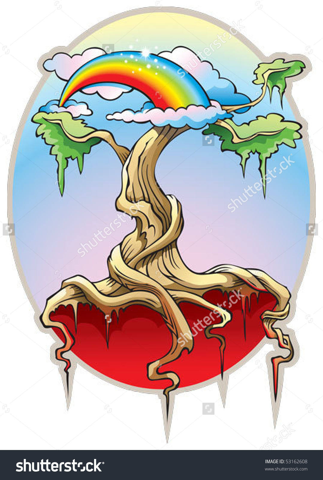 World Tree, Or The Tree Of The Universe, Our World From Heaven To.