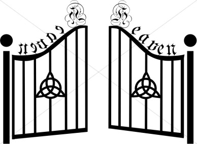 Gate of heaven clipart.