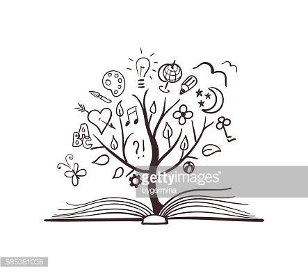 Vector tree of knowledge Clipart Image.