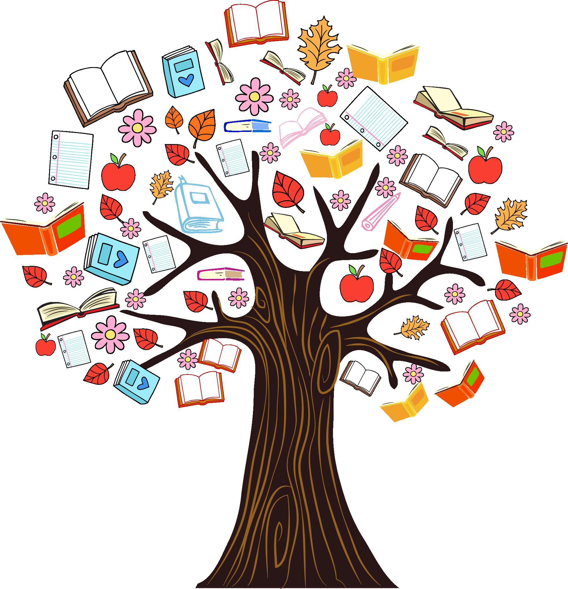 Book Tree Reading Clip art.