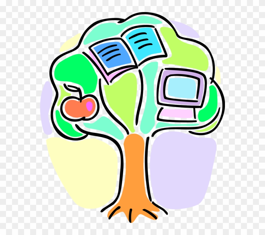 Vector Illustration Of Academic Education Tree Of Knowledge.