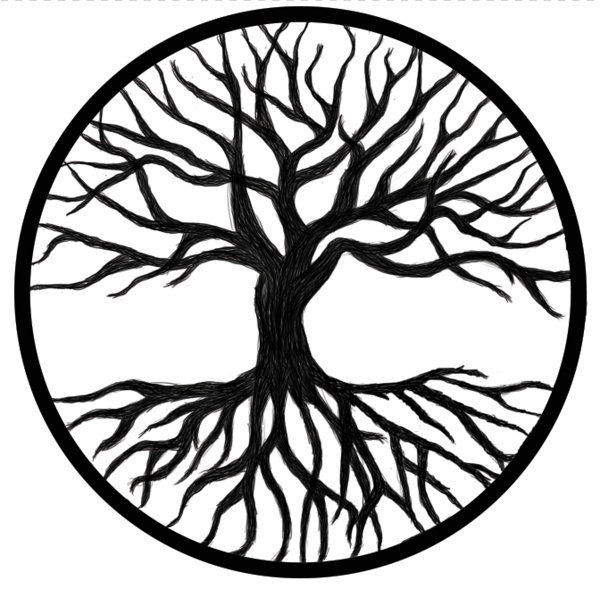 Black And White Tree Of Life PNG Transparent Black And White.