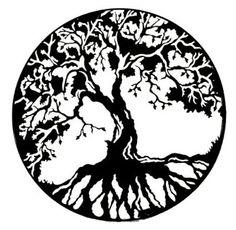 Tree of life silhouette clip art.