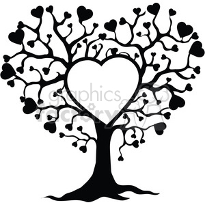 tree of life and love clipart. Royalty.
