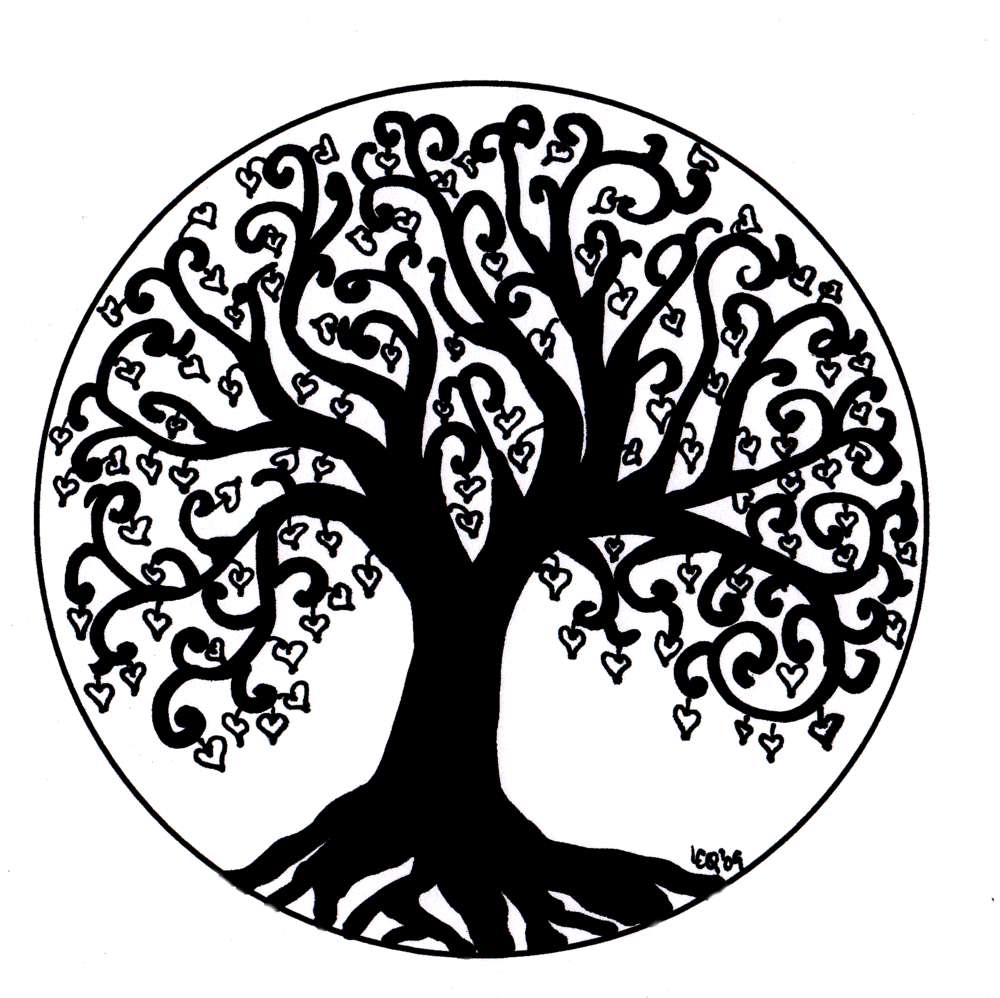 Tree Of Life Clipart Black And White.