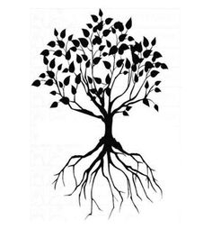 Tree Of Life With Roots Clipart.