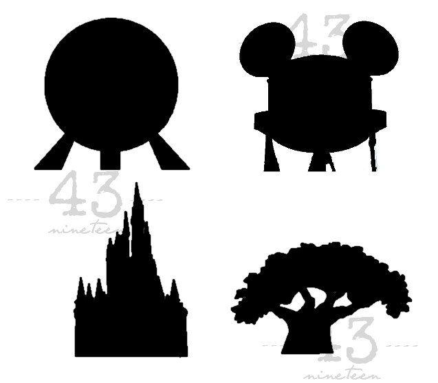 PNG & SVG Digital File Download for all four Disney Parks.