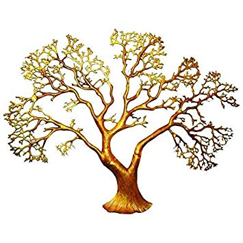 Buy IndianArtisans Tree of Life Golden Antique Hand Cast.