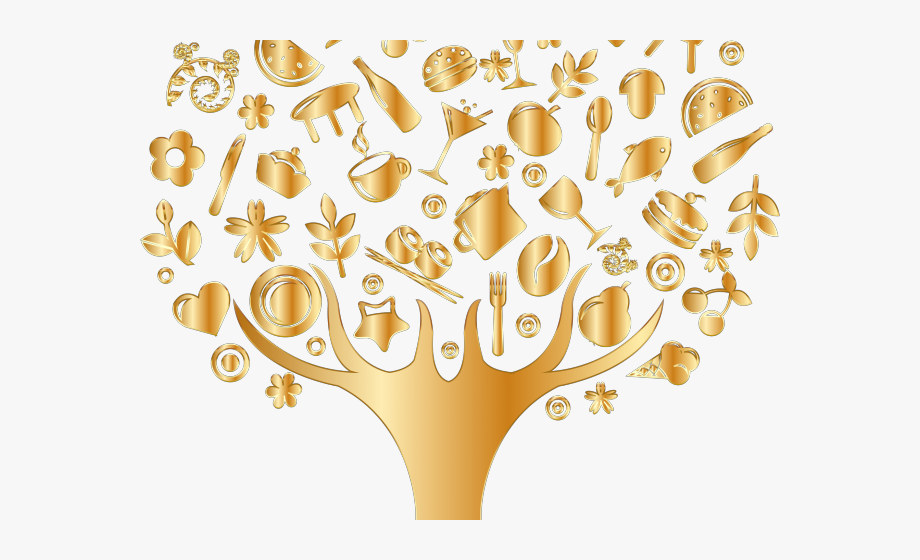 Life Clipart Golden Tree.