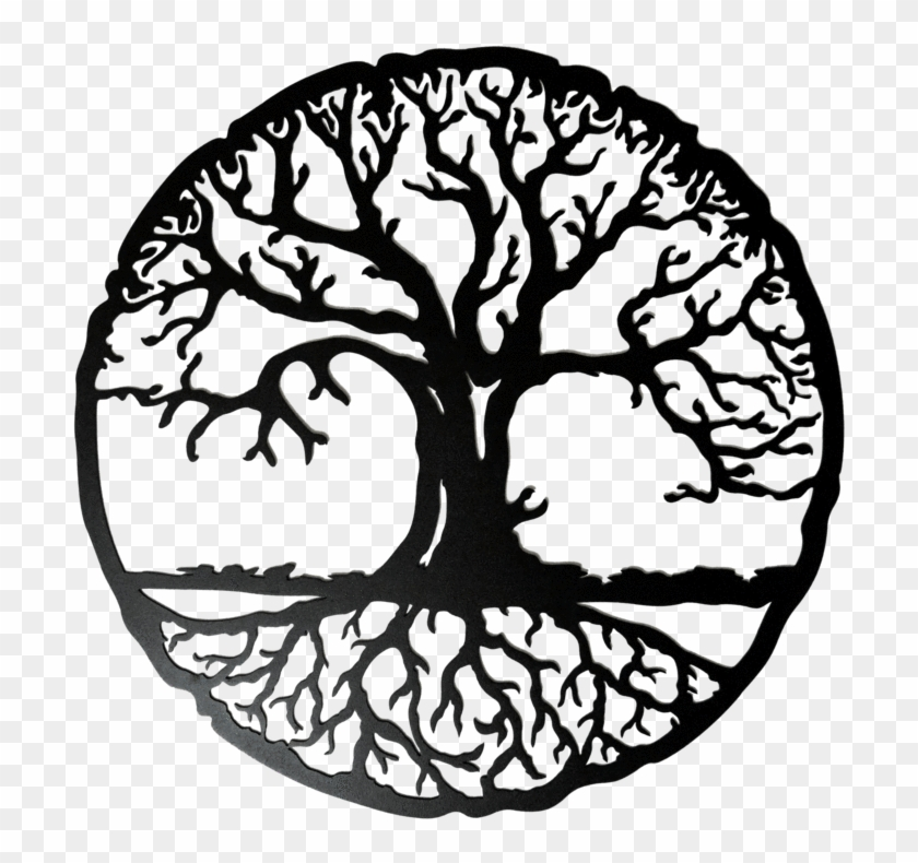 Transparent Tree Of Life With Roots.