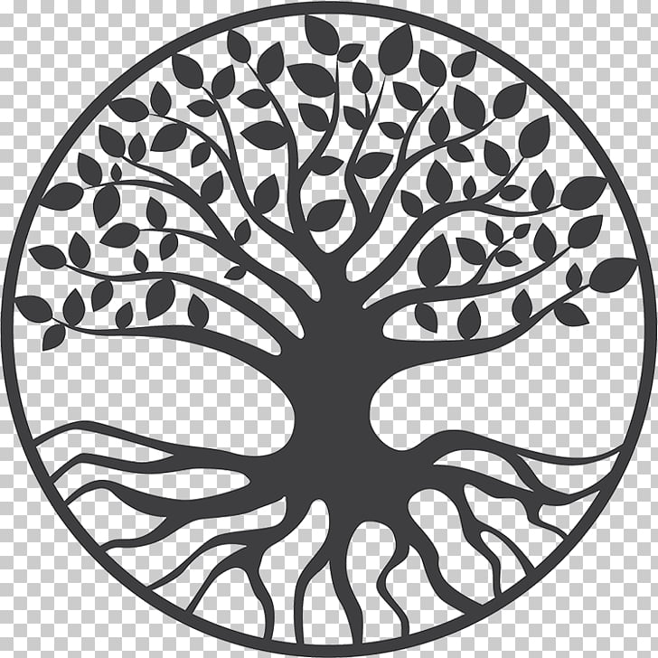 Yggdrasil Tree of life Drawing, others, round tree of life.