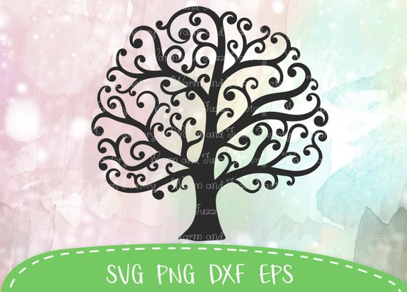 Tree svg, Tree of life svg, Family tree svg, whimsical tree.