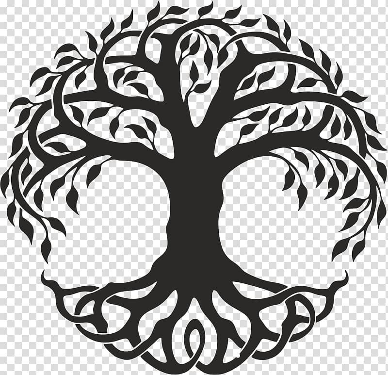 Figure drawing Tree of life , Celtic tree of life.