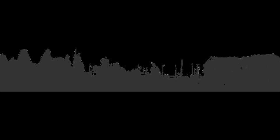 Free vector graphic: Horizon, Houses, Trees, Town.