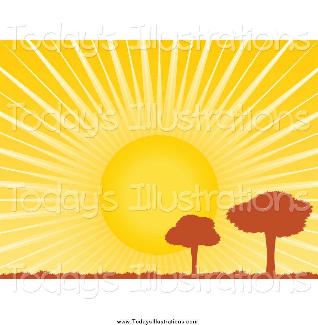 Horizon Tree Clip Art.