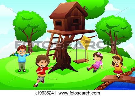 Tree house Clipart EPS Images. 27,437 tree house clip art vector.