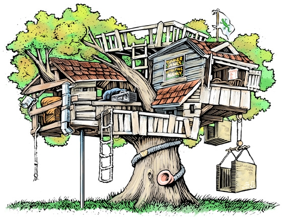 Tree Home Cliparts.