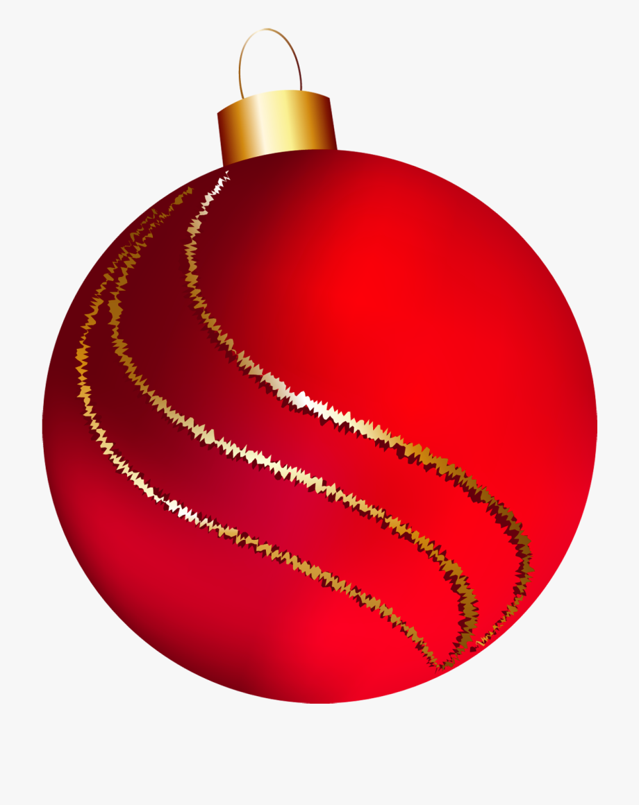 Large Red Ornament Clipart.