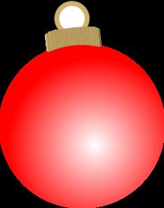 Red Christmas Ball Ornament Clip Art at Clker.com.