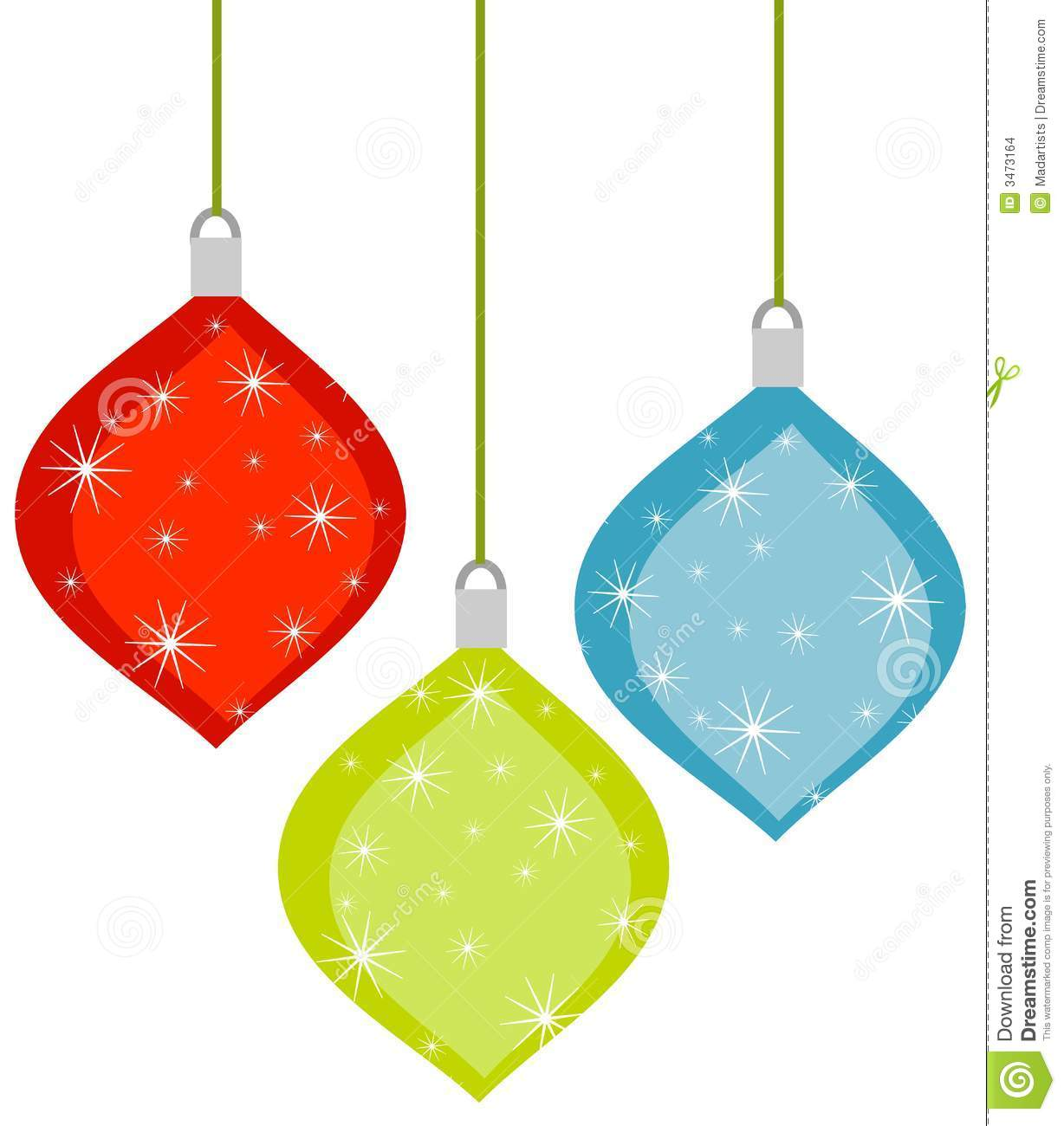 Christmas Tree Ornament Clipart.