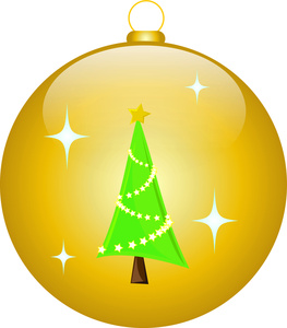 Christmas tree ornaments clip art.