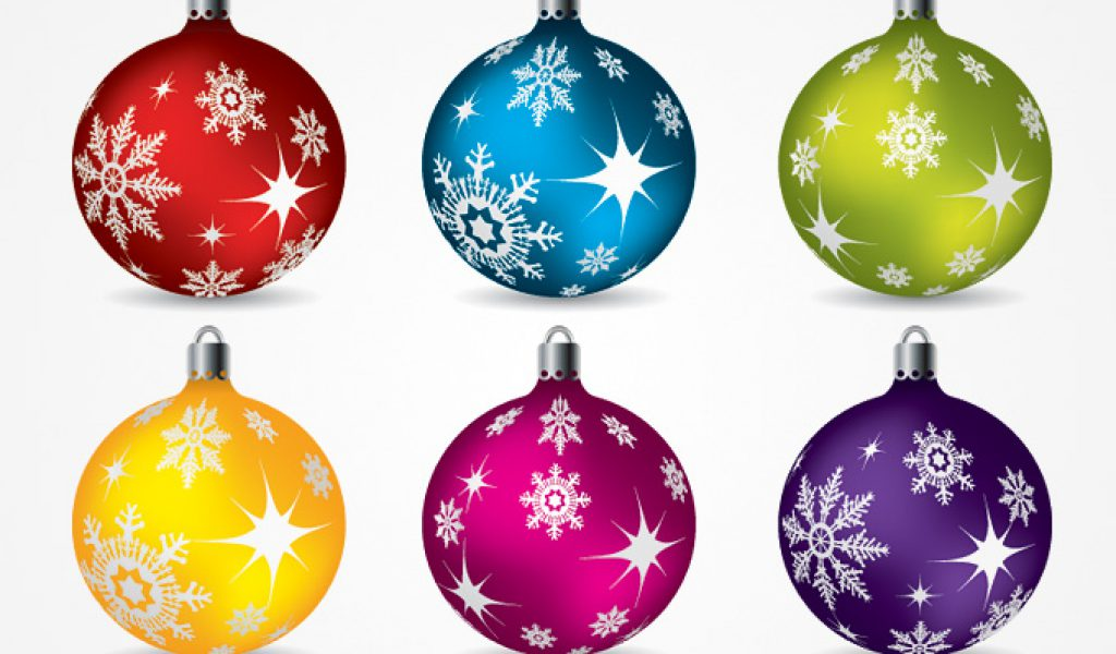 Tree ornaments clipart.