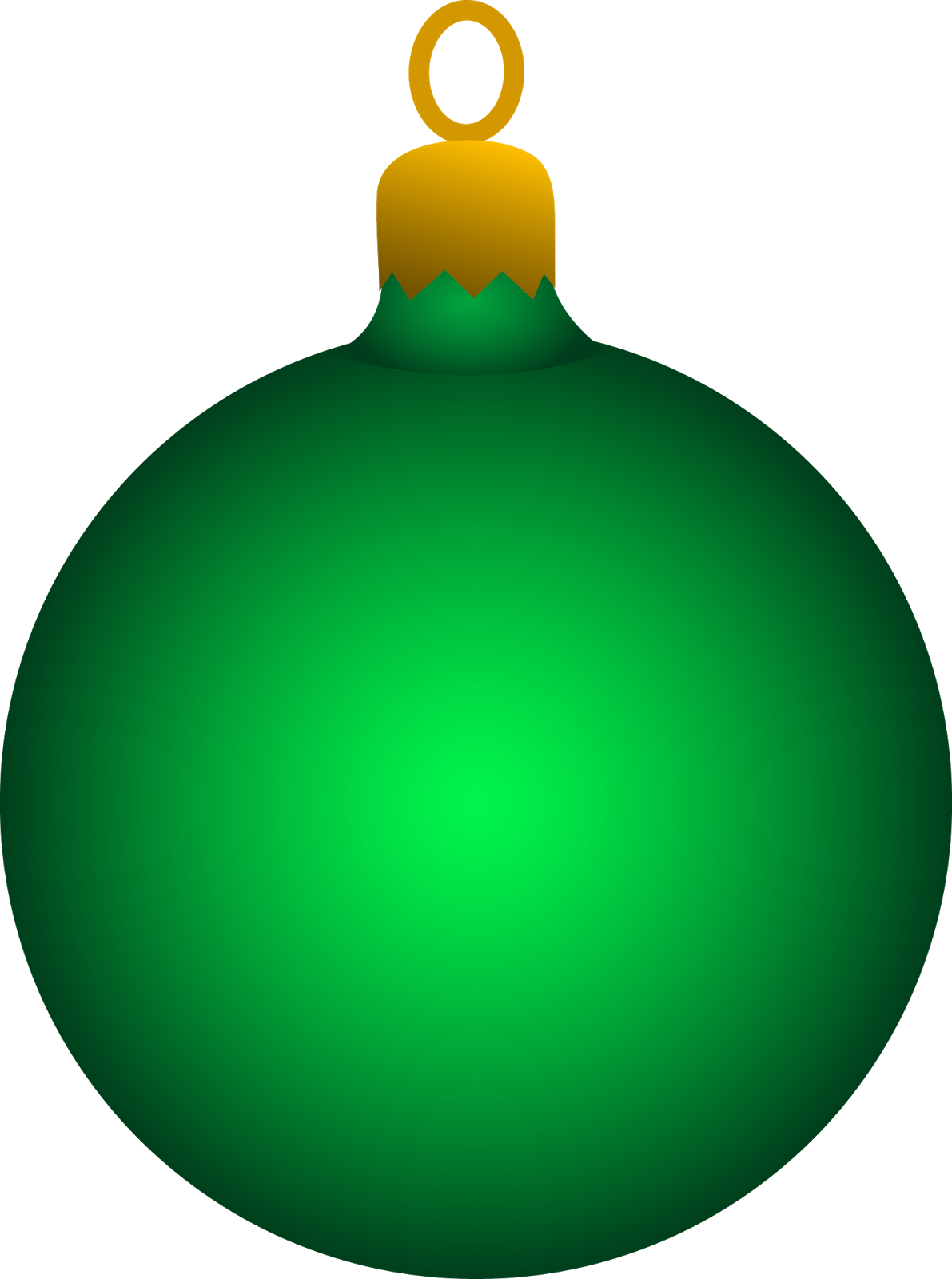 Christmas tree ornaments clipart.