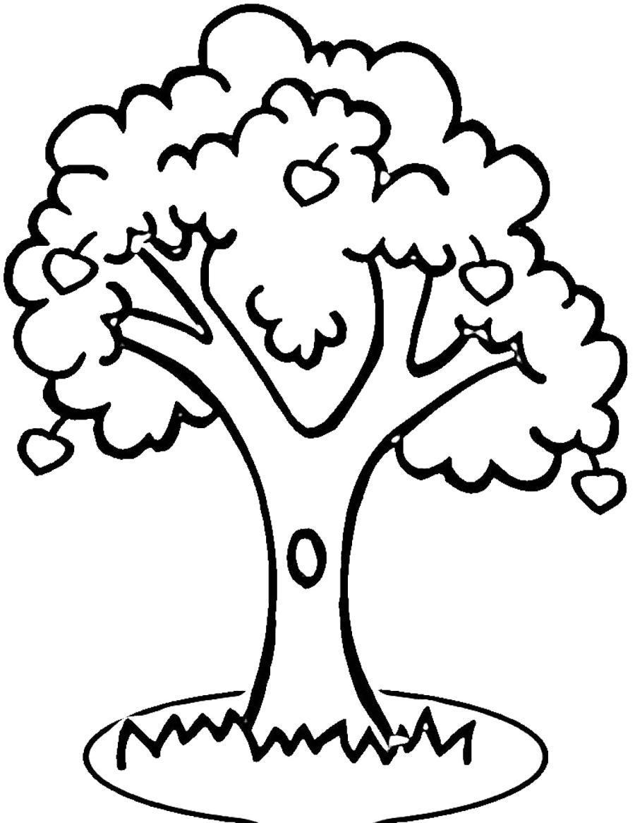 87+ Tree Outline Clip Art.