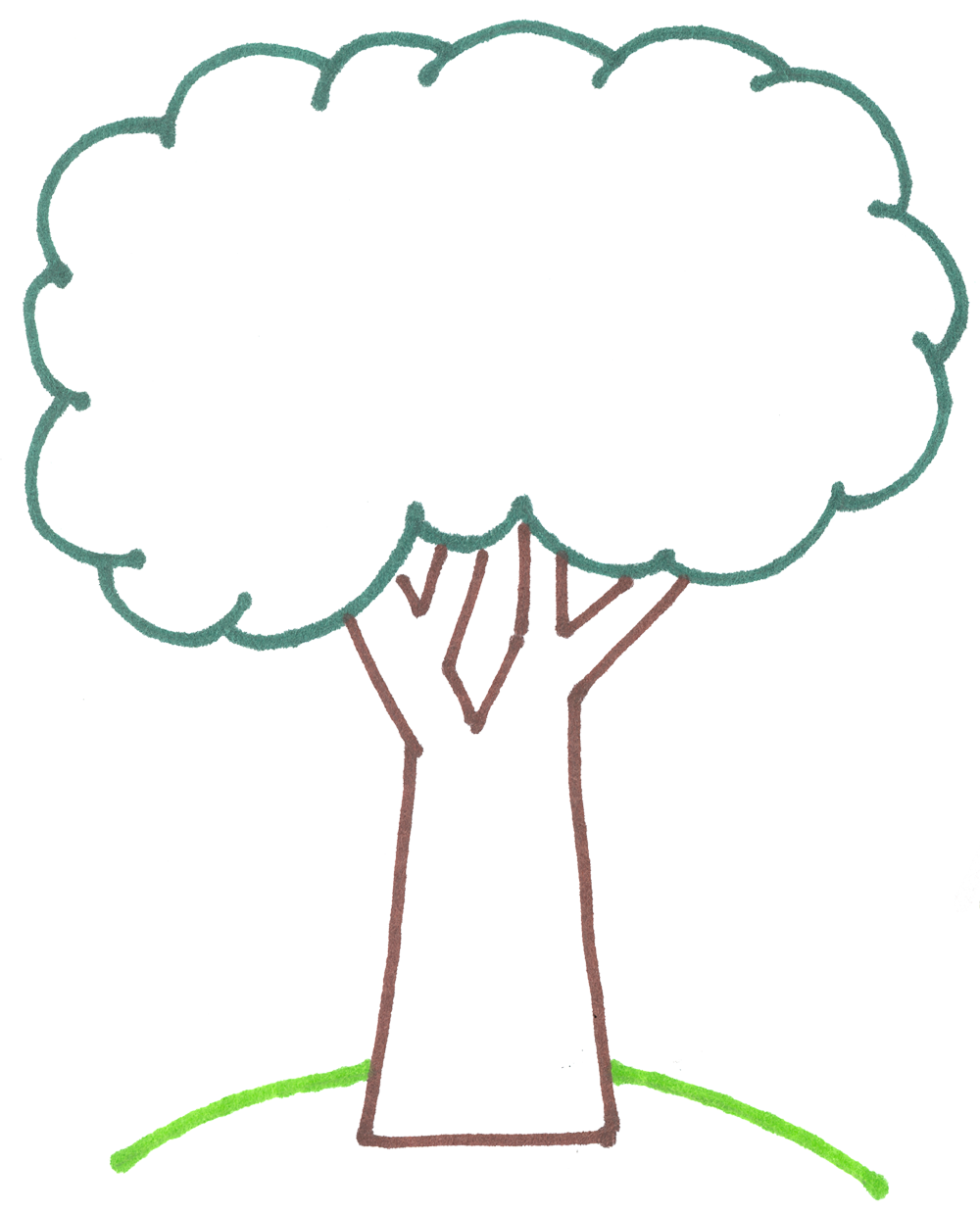 Tree Clipart Outline.