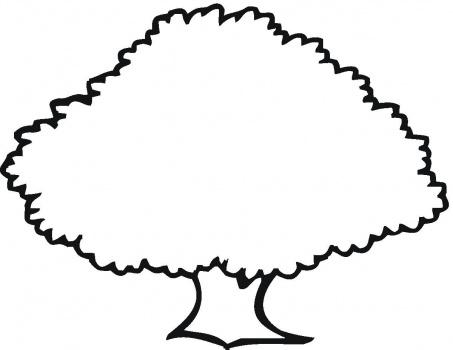 Oak Tree Outline Clipart.