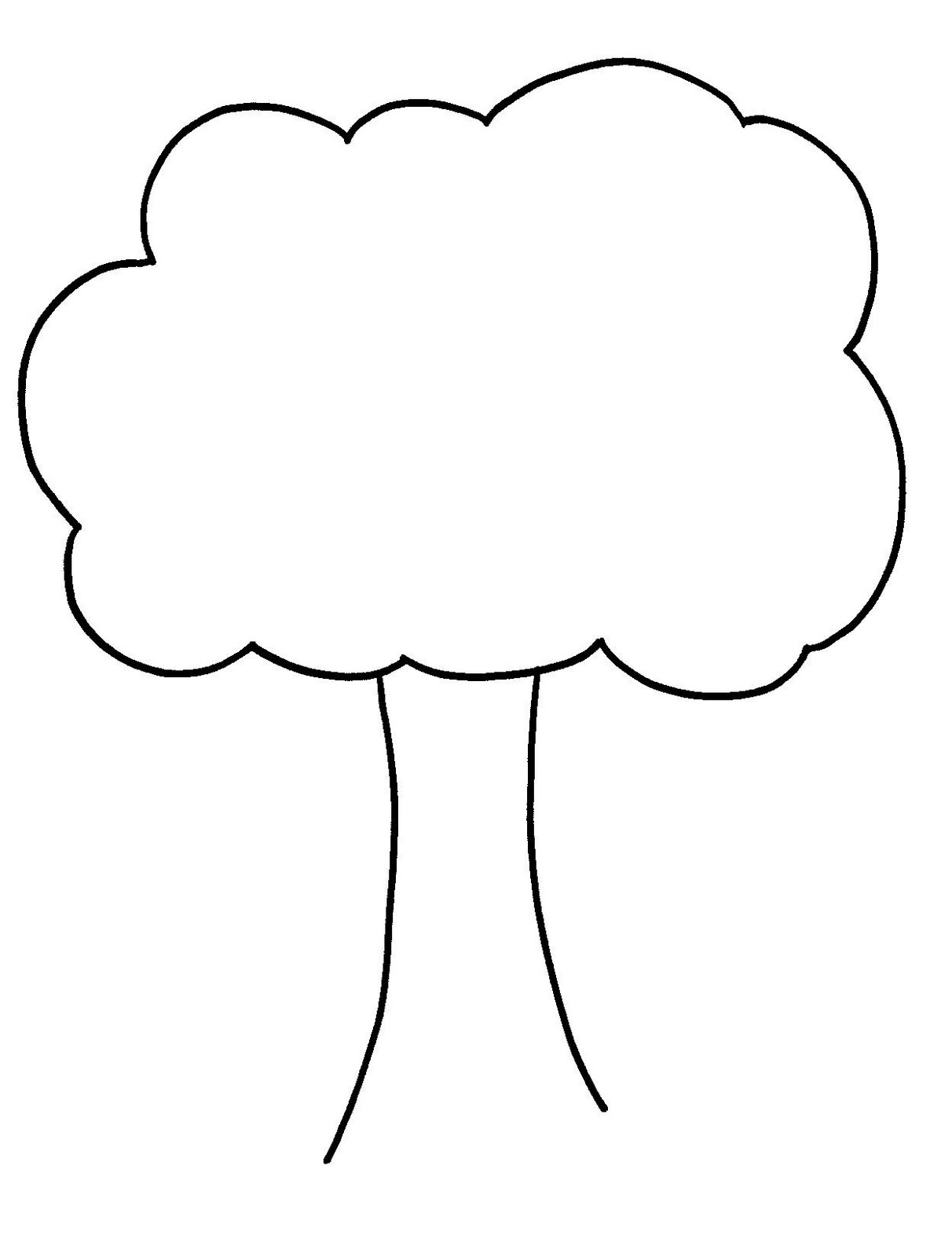 Clip Art Tree Outline.