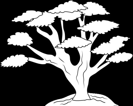 Tree outline clip art.