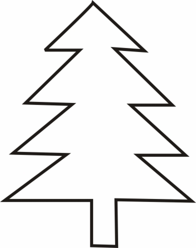 tree outline , Free clipart download.