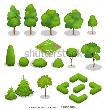 Trees Landscape Stock Images, Royalty.
