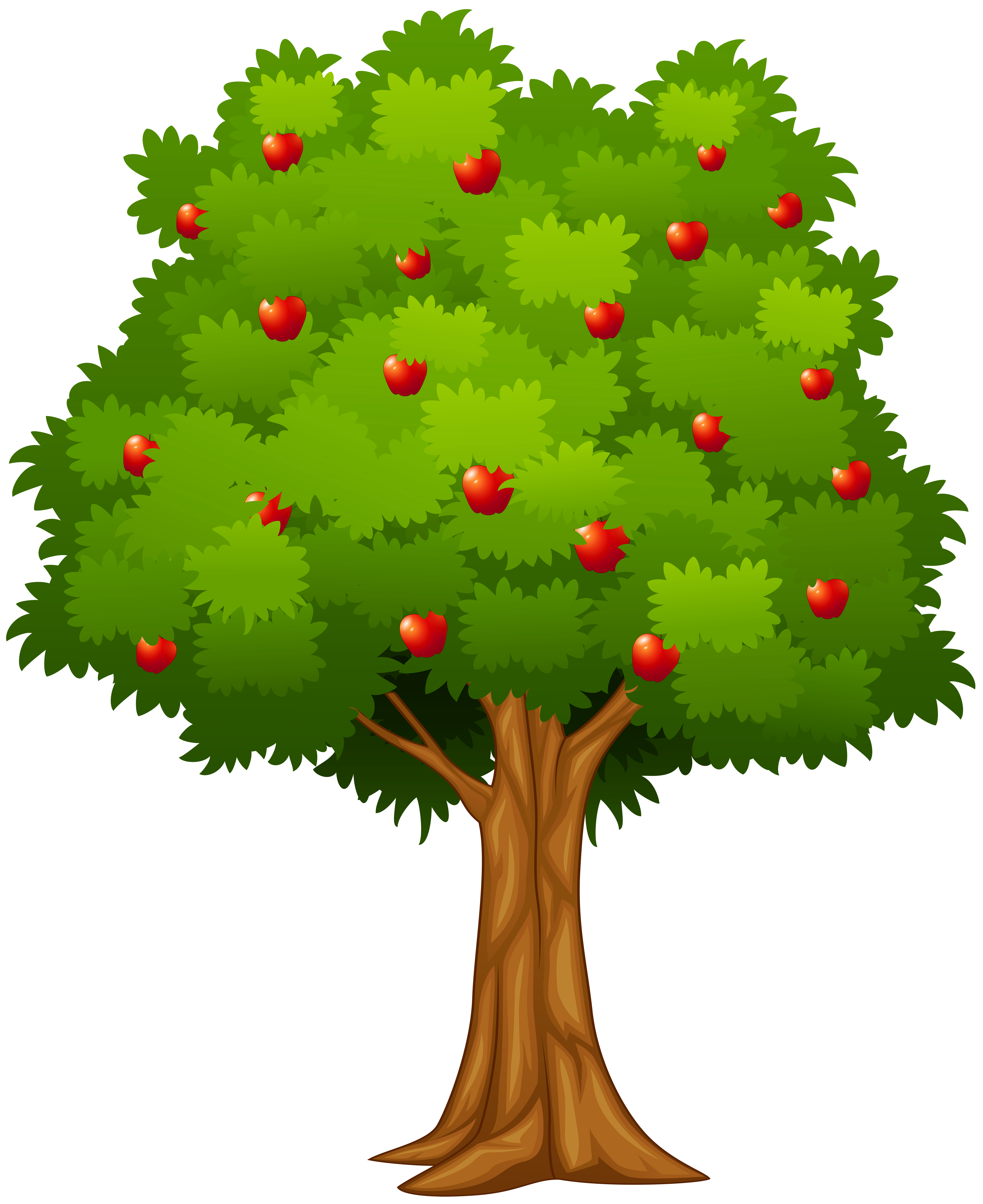 Apple Tree PNG Clip Art Image.