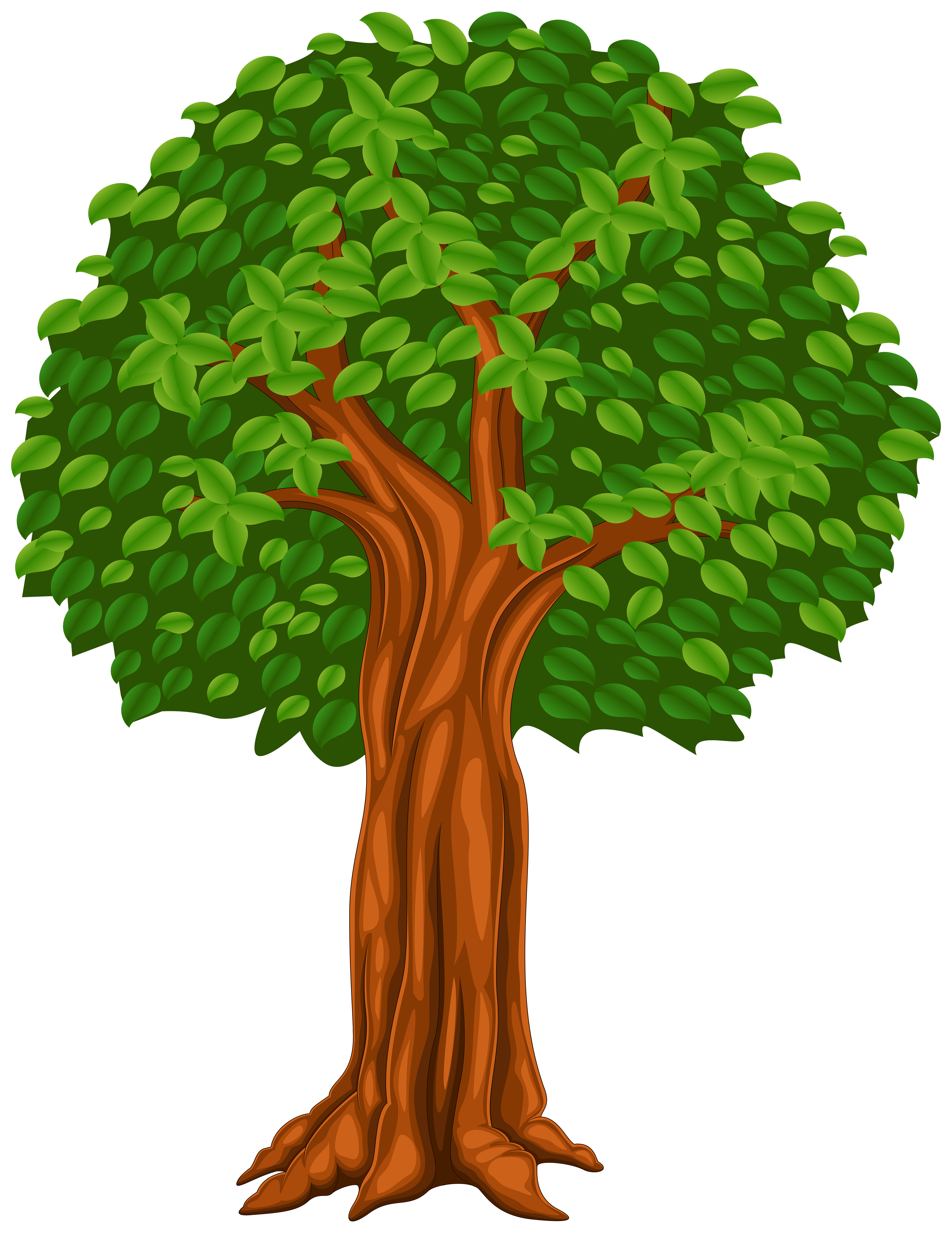 Tree Cartoon PNG Clip Art Image.