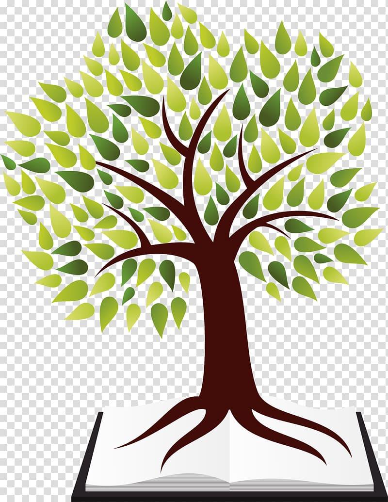 Tree Creativity Logo Illustration, Green and simple trees.