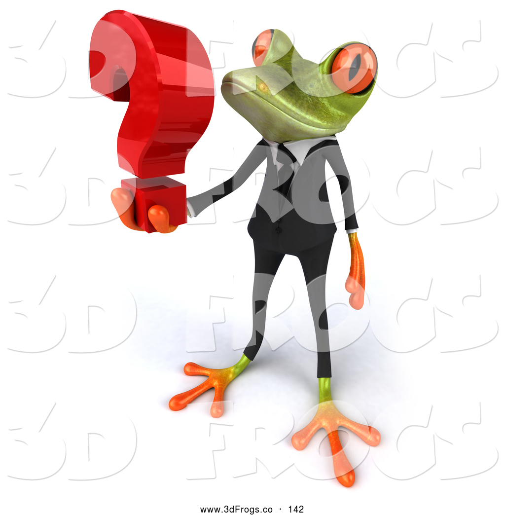 Royalty Free Question Mark Stock 3d Frog Designs.