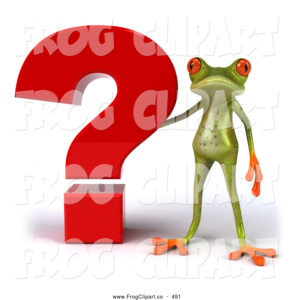 Royalty Free Stock Frog Designs of Question Marks.