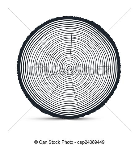 EPS Vector of Tree Rings Vector csp24089449.