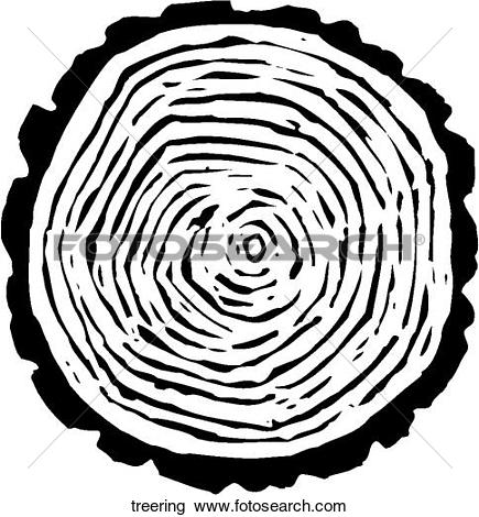 Clipart of Tree Rings treering.