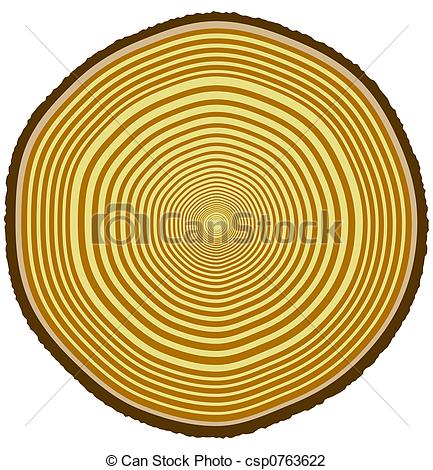 Clip Art of Tree rings.