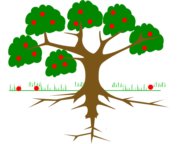 Family Tree Roots Clip Art.