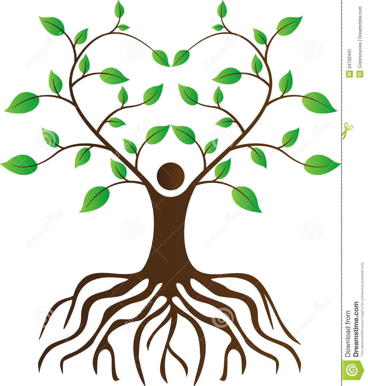 Simple Tree Root Clipart.