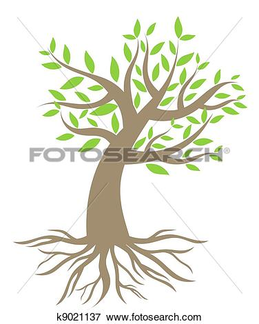 Clipart of Tree roots silhouette k9157115.