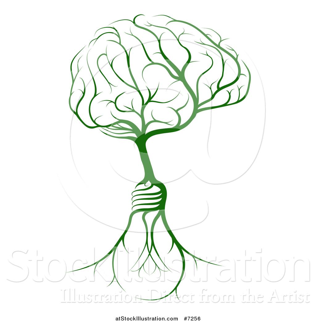 Tree Roots Education Light Bulb Clipart.