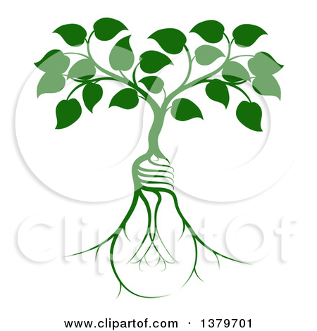 tree roots education light bulb clipart #18